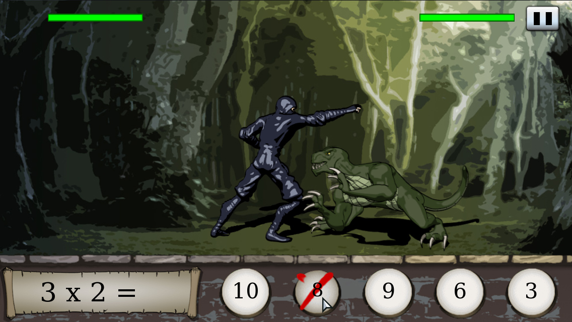 Times Ninja Adventure - ninja fighting lizard man